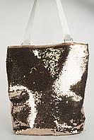 Стильная пляжная сумка-рюкзак art. 11-6 пайетки, фото 1