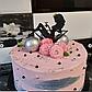 10 см Топпер для торта девушка сидит в бокале черный, фото 6