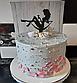 10 см Топпер для торта девушка сидит в бокале черный, фото 5