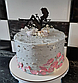 10 см Топпер для торта девушка сидит в бокале черный, фото 4