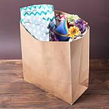 Пакет паперовий на винос без ручок, 320*150*380 мм, упаковка 500 штук, фото 4