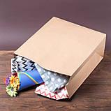 Пакет паперовий на винос без ручок, 320*150*380 мм, упаковка 500 штук, фото 6