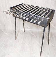 Мангал раскладной в чемодан толщиной 3 мм 12 шампуров в комплекте, фото 1