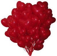 Очень эффектный Шар латексный «красное сердце»,30 см.