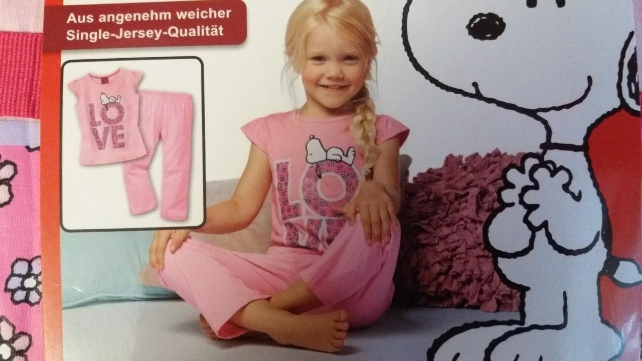 Пижама трикотажная для девочки, размеры 86/92,  110/116, Lupilu, арт. 825352