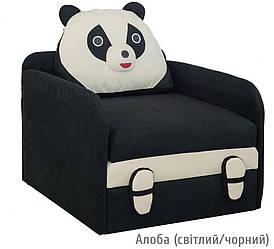Дитячий розкладний диван Юніор Панда Алоба (чорний\ світлий) Меблі-сервіс