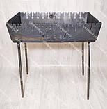 Мангал розкладний у валізу 3 мм 12 шампурів з дерев'яними ручками в комплекті, фото 3