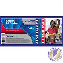 Бумага Lomond для струйных принтеров, Premium Satin, 240 г/м2, 914 мм х 30 метров