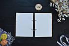 Альбом, книга для пожеланий, гостевая книга на свадьбу из дерева с именной гравировкой. Пара под деревом. А5, фото 4
