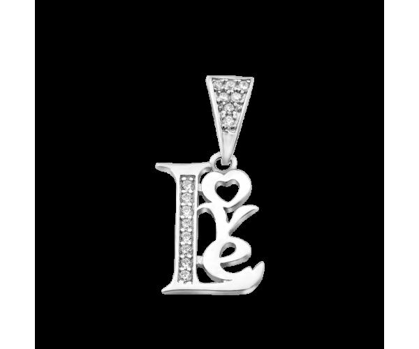 Серебряный кулон GS Любовь
