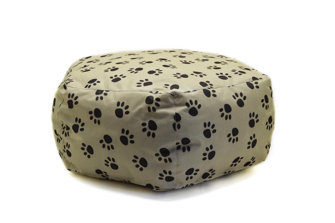Пуф для собак и котов Глория бежевый №3 d -700 h-300