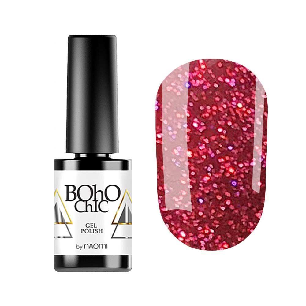 Гель-лак для ногтей  Naomi Boho Chic BC153 Красный, 6мл