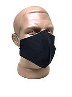 Маска для обличчя багаторазова захисна чорна