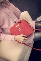 Женская маленькая сумка через плечо Бэмби Красная