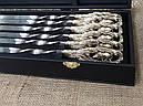 """Подарунковий набір шампурів ручної роботи """"Кабан"""" і розбірний мангал """"Лось"""" в кейсі з еко-шкіри, фото 3"""