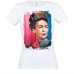 Футболка с печатью Frida Kahlo