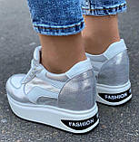 Серые классные женские кроссовки 39, фото 2