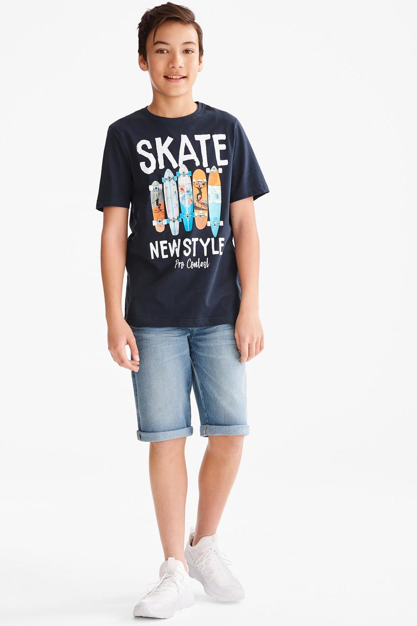 Подростковый комплект футболка и шорты для мальчика C&A Германия Размер 134-140, 158-164