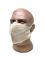 Маска для обличчя багаторазова захисна бежева