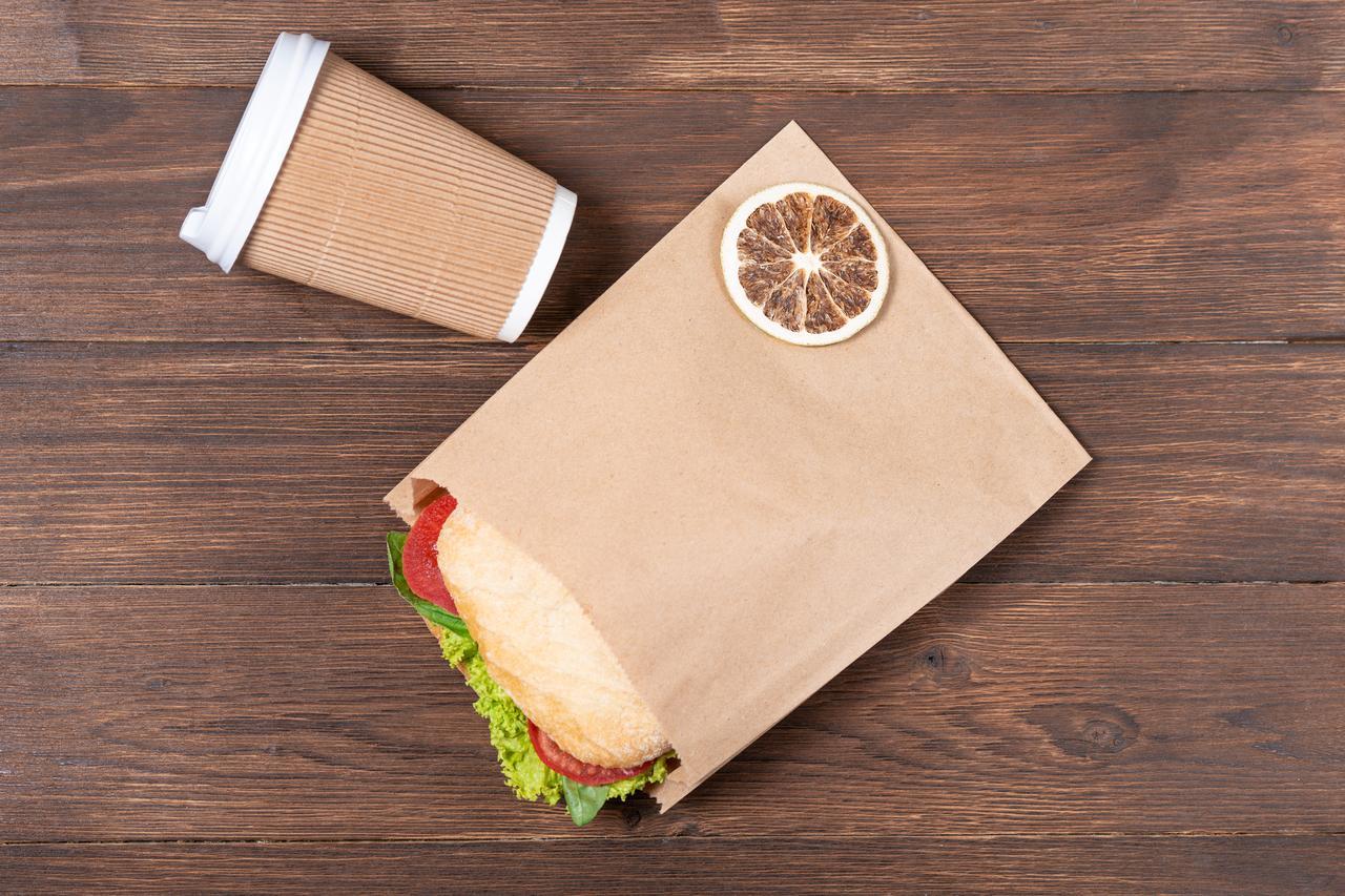 Крафт пакет-саше бурий 170*30*230 мм Паперові пакети для бутербродів