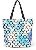 Прочная вместительная женская пляжная сумка с паетками art. 3357-05