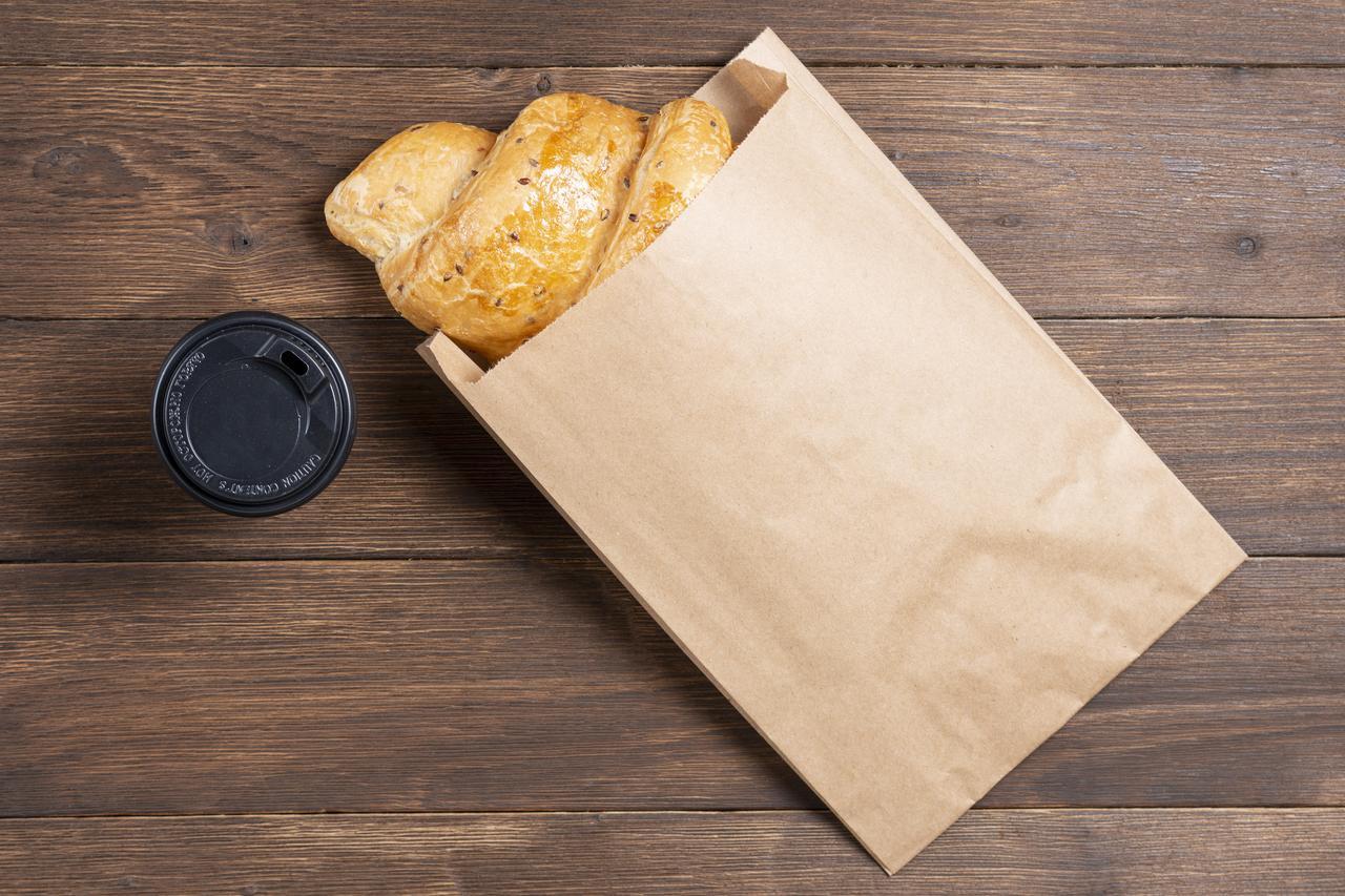 Бумажный пакет под выпечку 170*30*230 мм бурый крафт пакет саше