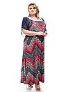 Платье большого размера В-1011 (2 цвета), фото 5
