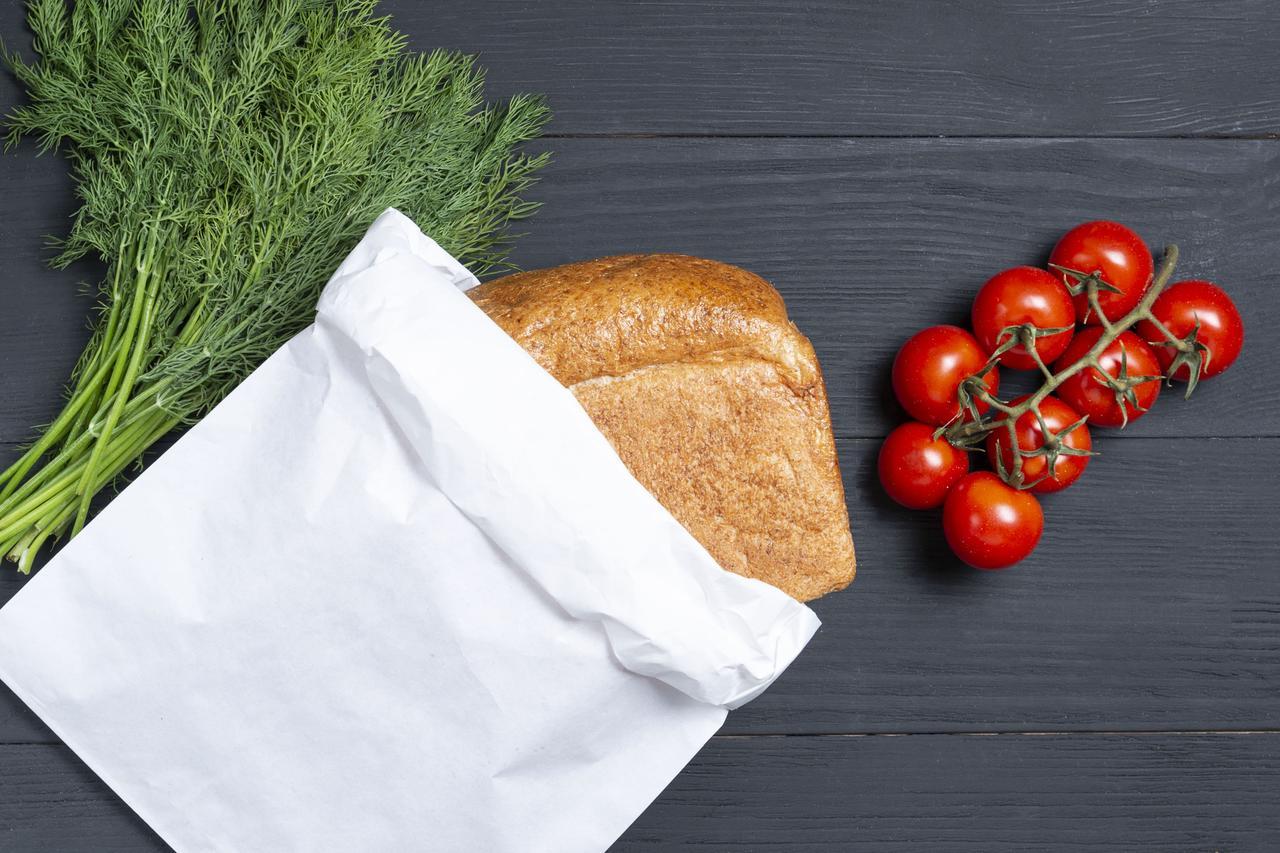 Паперові упаковочні пакети для хліба 220*80*380 мм крафт пакет саше білий