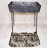 Мангал раскладной в чемодан толщиной 3 мм 12 шампуров чехлом в комплекте, фото 5
