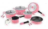 Набор посуды Royalty Line RL-ES1014M Pink 14 предметов