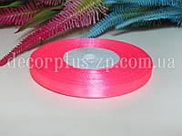 Лента атласная 0,6см (36 ярдов), ярко-розовая