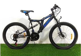 """Гірський велосипед 26 дюймів Azimut Blackmount 26"""" BLACK-BLUE"""