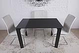 Стеклянный раскладной стол BRISTOL B 130/200*85 графит Nicolas (бесплатная адресная доставка), фото 9