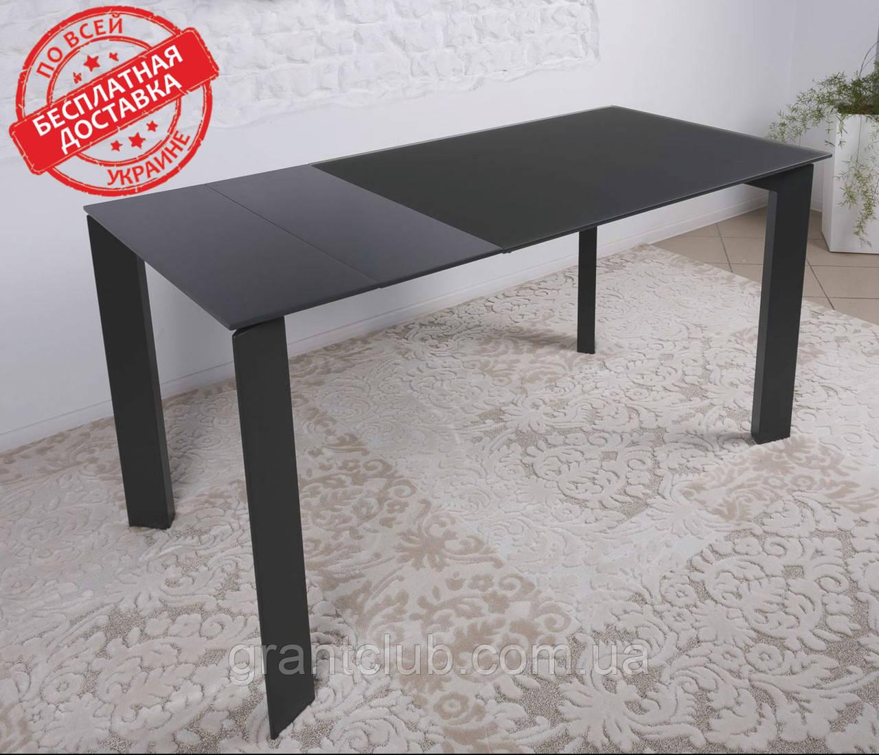 Стеклянный раскладной стол BRISTOL B 130/200*85 графит Nicolas (бесплатная адресная доставка)
