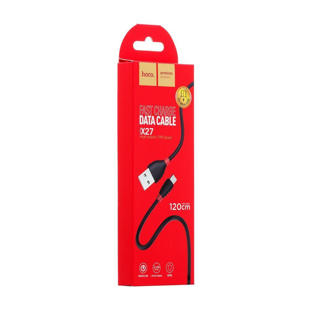 USB кабель Hoco X27 Excellent Micro (1,2м, черный)