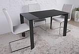Стеклянный раскладной стол BRISTOL B 130/200*85 графит Nicolas (бесплатная адресная доставка), фото 3