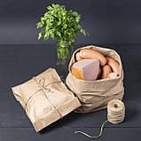 Пакет крафт паперовий фасувальний 220*80*380 мм пакет саше бурий, фото 6