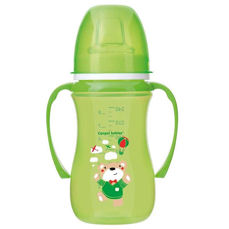 Кружка-непроливайка Canpol Babies EasyStart 35/208_gre Зеленая 240 мл