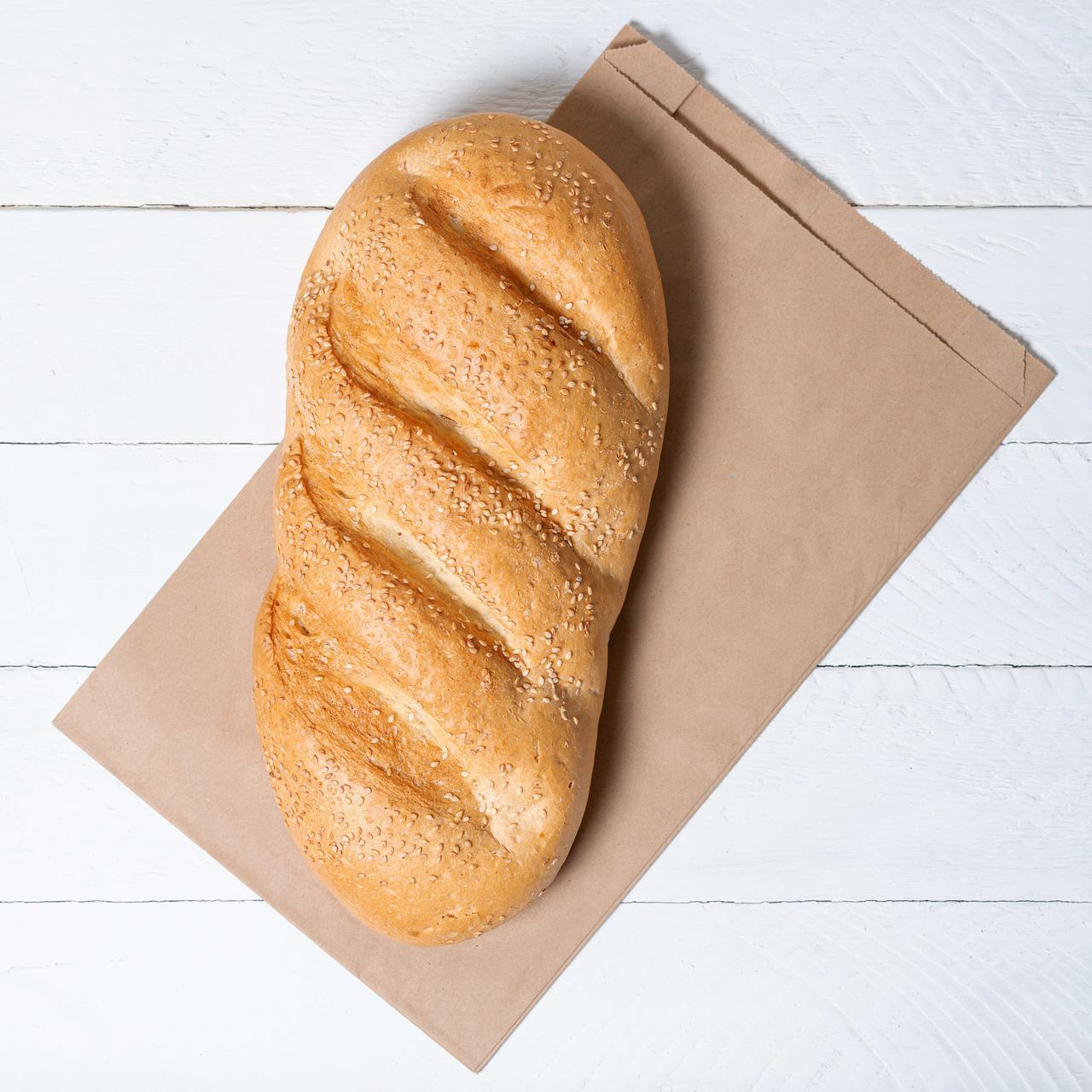 Бумажный упаковочный пакет для хлеба 220*60*340 мм крафт пакет бурый