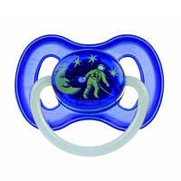 Латексная круглая пустышка Canpol babies Space, 6-18 мес., 23/222_blu Синяя