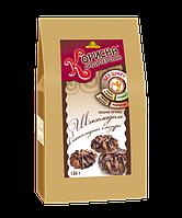 """Песочное печенье с шоколадом в шоколадной глазури, 130 г от ТМ """"Корисна Кондитерська"""""""