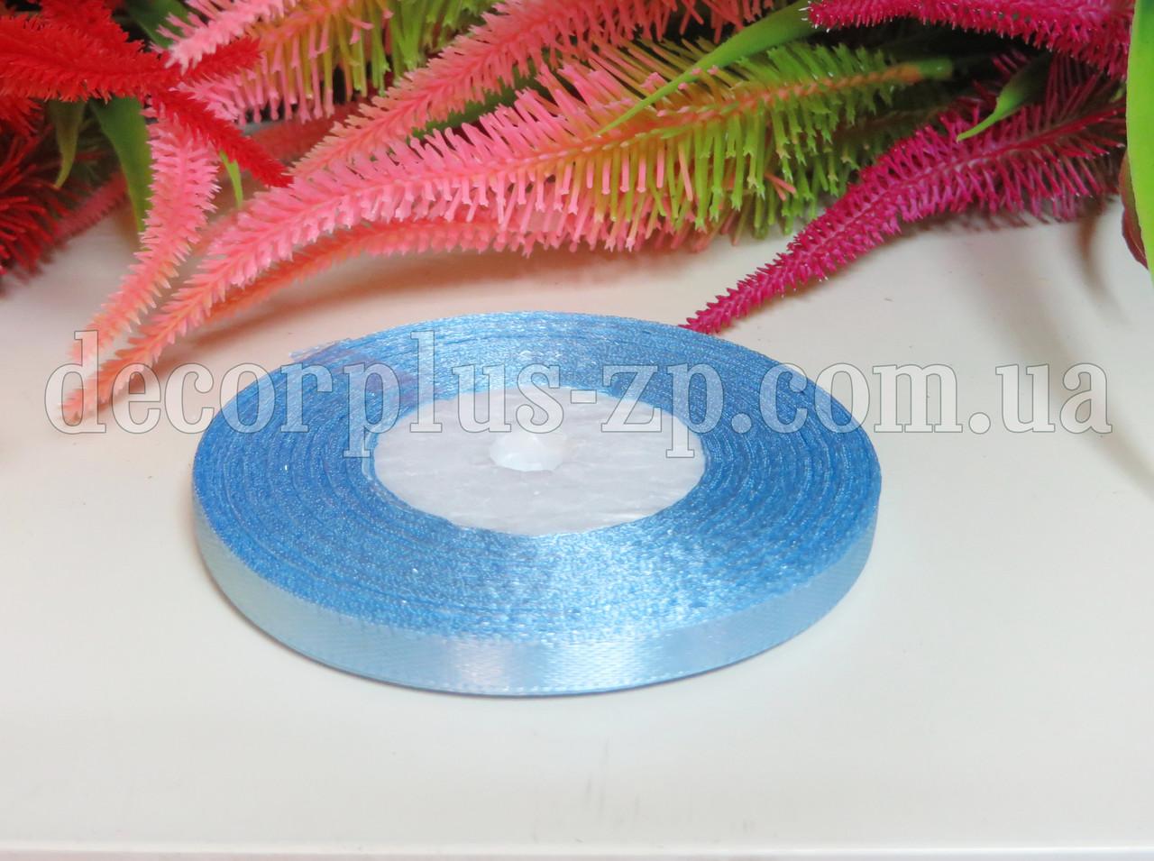 Лента атласная 0,6см (36 ярдов), голубая