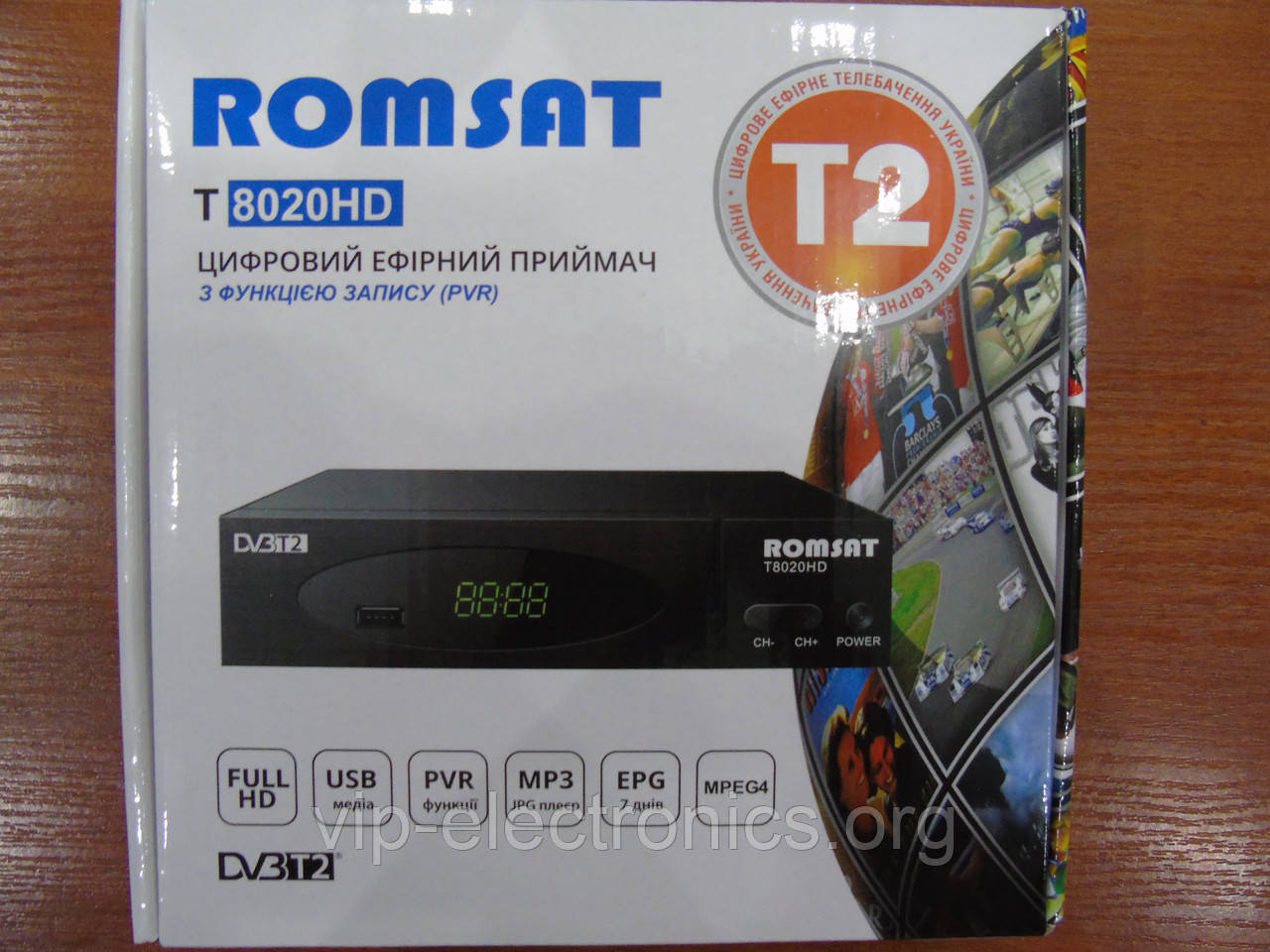 Тюнер DVB-T цифрове TV Romsat T2 T8020HD