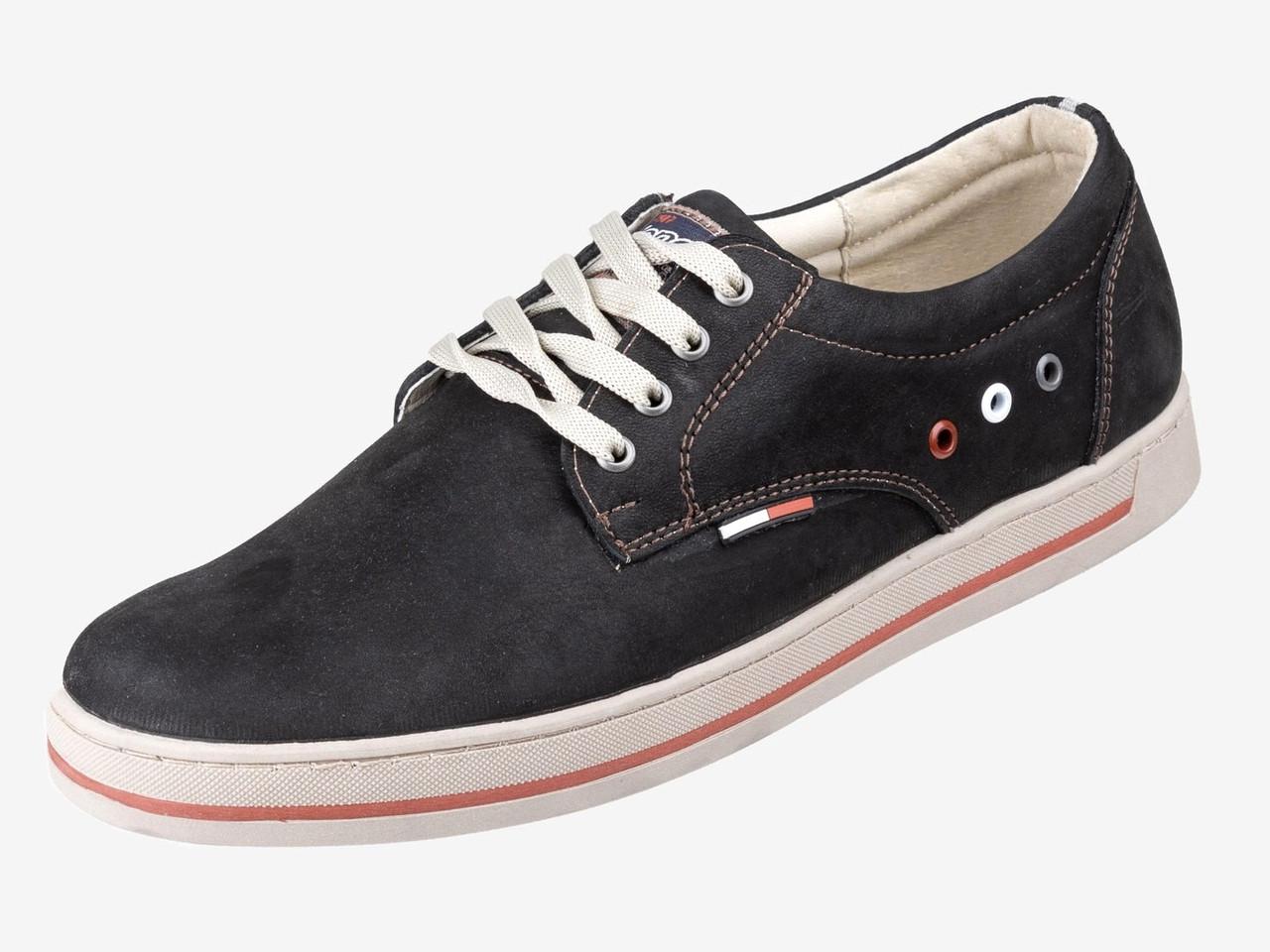 Акционные спортивные туфли черные из турецкого нубука KONORS 8135/04-16 скидка