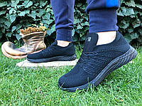 Кроссовки мужские черные супер-легкие на пвх подошве лето