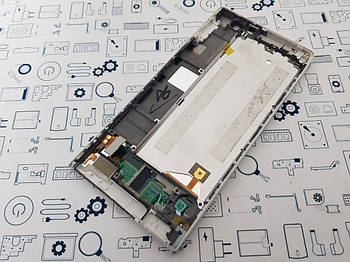 Дисплей Huawei Ascend P6 модуль белый Сервисный оригинал с разборки