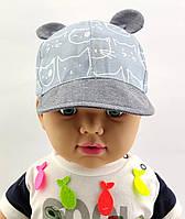 Детская кепка с 48 по 52 размер детские кепки тонкие летние с козырьком ушками для мальчика, фото 1