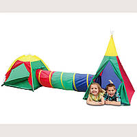 Детская игровая палатка Ecotoys Iglo 3 in 1 домики, туннели для детей, фото 1