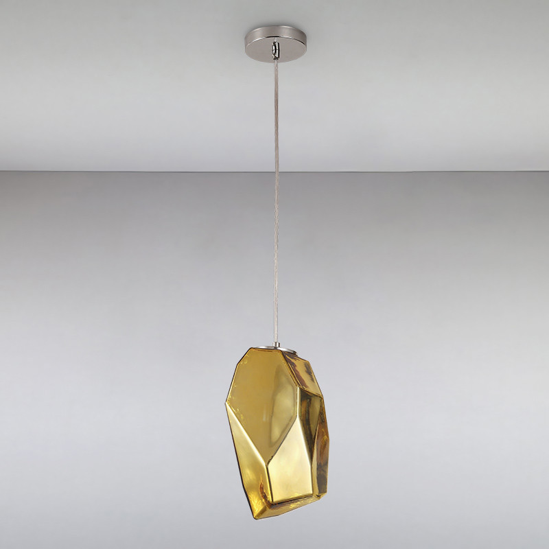 Люстра подвесная на одну лампу LS-814839-1 GD золото