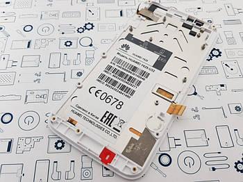 Дисплей Huawei Y625-U32 модуль белый Сервисный оригинал с разборки
